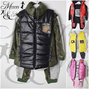 3Pcs Kids Boys & Girls Outfit with Warm Fleece Waterproof Hoodies Coats Pants