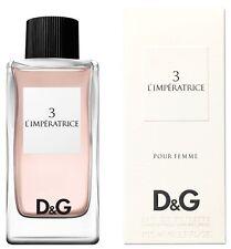 Dolce & Gabbana 3 L'IMPERATRICE Pour Femme 100ml Eau De Toilette EDT NEW SEALED