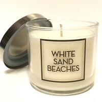 NEW 1 BATH BODY WORKS HOME WHITE SAND BEACHES 4 OZ SCENTED FILLED MEDIUM CANDLE