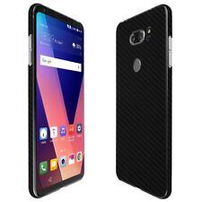 Skinomi Black Carbon Fiber Skin Clear Screen Protector for LG V30 / V30s ThinQ