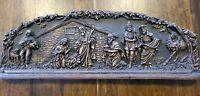 Vintage Nativity Hard Molded Foam Holy Family  Wall Plaque Decor 29 x 10