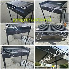 Barbecue  tipo pesante artigianale  con   griglia registrabile su due livelli