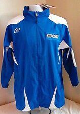 NWT Xara Soccer Impact Full Zip Vented Jacket Small Blue & White Free Shipping!