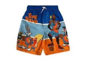 NWT Space Jam 2 Swimsuit Swim Trunks Shorts Boy's Tune Squad New Legacy Size 4