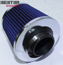 "Universal2.5""Open Top Air Intake/Turbo Filter Blue Fit Honda Mazda Toyota BMW"