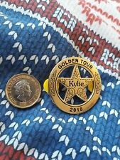 KYLIE GOLDEN SHERIFF'S BADGE LIMITED NUMBER LEFT PROTOTYPE BADGE FREEPOST♡ £9.99
