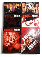 CRIMINAL MINDS Seasons 1-4 DVD Boxed Sets CBS Pre-Owned Good Condition