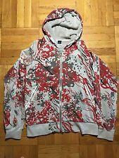 RARE 55DSL red grey CAMO FULL ZIP HOODIE sweatshirt sz XL 2005/6 GUC MEN d