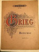 Edvard Grieg : Berceuse Opus 38 No. 1