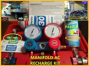 AC RECHARGE KIT COMPLETE FOR (HYCHILL MINUS 30+ AC PAG OIL CAPS REPLACES R134a