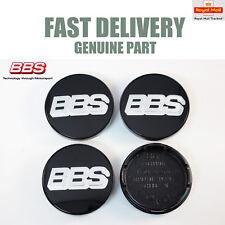 4x Genuine BBS Centre Caps Noir Argent Logo BBS 56 mm CH RX RA SR 09.24.257 NEUF