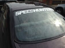 SPEEDHUNTERS Window Banner XXL Size White Track Car Sticker 100cm