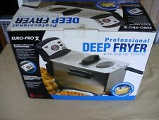 NEW Euro-Pro F1066 5-Liter Electronic Stainless Steel Deep Fryer