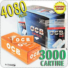 4080 Filtri OCB SLIM 6mm BOX 34 BUSTE + 3000 Cartine OCB ORANGE CORTE ARANCIONI