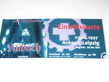 LAIBACH Konzertticket vom 05.04.1997 Live in Leipzig - Konzertkarte, Rammstein