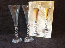 Millennium 2001 Cristal d' Arques Champagne Flutes