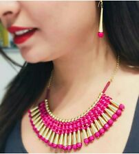 Pink High Class Luxury Necklace And Earrings Set For Women ladies Hot Selling