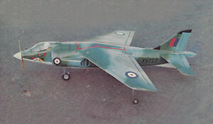 1/9 Scale Hawker Siddeley Harrier  Plans, Templates and Instructions 36ws
