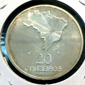 1972 🔥 Brazil 20 Cruzeiros 0.900 Silver ✨ 150th Anniversary Proof ✨ KM 583