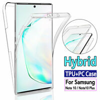 For Samsung Galaxy Note 10/10+ Plus Slim 360° Full Body Case TPU+PC Clear Cover