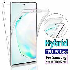 Samsung Galaxy Note 10 Plus S9 S10 Slim 360° Full Body Case TPU+PC Clear Cover