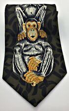 Rudee Ricco Mens Tie Monkees  No See Hear Speak Italian Designer