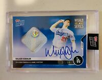 Walker Buehler AUTO 2020 Topps Now BLUE World Series GU Base Patch Autograph /49