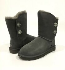 UGG CLASSIC SHORT TURNLOCK BOOTS CHARCOAL SHEEPSKIN -US SIZE 8 -NEW
