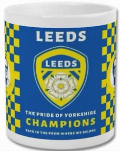 PERSONALISED NOVELTY MUG/CUP LEEDS UNITED CHAMPIONS LUFC  ADD TEXT NO EXTRA COST