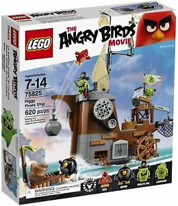 LEGO ANGRY BIRDS #75825 PIGGY PIRATE SHIP Set (620 Piece) RETIRED NEW SEALED