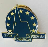 Centre European Commercial Europeen Advertising Pin Badge Vintage (C17)