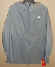 The North Face Womens Small City Midi Trench Coat Rain Jacket Grey Waterproof