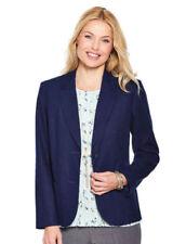 Manteaux et vestes bleus en lin pour femme taille 42
