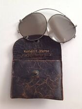Herbert E. Pierce, Optical Specialist - Antique Eye Glasses And Leather Case