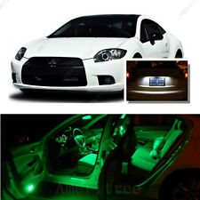 For Mitsubishi Eclipse 2006-2012 Green LED Interior Kit +White License Light LED