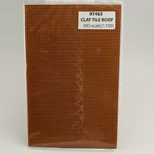 "JTT SCENERY 97465 CLAY TILE ROOF 1:100 HO SCALE (2) 7.5"" x 12"" SHEETS JTT97465"