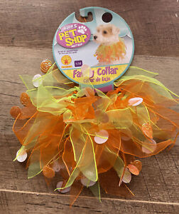 Rubies Pet Shop Fancy Pet Collar Small With Pumpkins