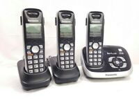 Panasonic KX-TG6531 DECT 6.0 PLUS Digital Cordless Answering System 3 Phones