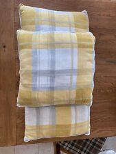 3 X Cushions Grey And Mustard  44x 46 Cm