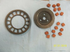 Motorized bicycle clutch wheel and parts
