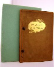 LONGFELLOW Work LEATHER Orig Box ABRAHAM LINCOLN Quotes SUCCESS As New  RARE