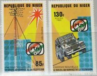 NIGER 1983 865-66 641-42 Solar Energy for Television Sonnenenergie Energie MNH