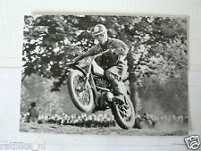 C ARTHUR LAMPKIN BSA MOTOCROSS MX EARLY 60'S VINTAGE POSTCARD MOTO 11-04