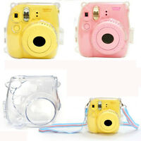 Thin Crystal Clear PC Hard Case Cover For FujiFilm Instax Mini8 Camera Tote Bag*