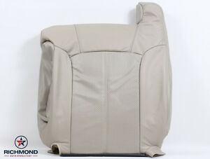 2002 Cadillac Escalade EXT -Driver Lean Back PERFORATED Leather Seat Cover TAN