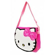Hello Kitty Head Pink Messenger Bag Purse Tote School Woman Women Girls Barbie