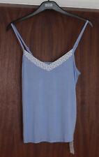 M&S Sleep Size 10 Soft Viscose Strappy Vest Cami Pyjama Top Bnwt Blue