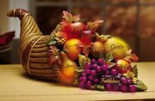 Lovely Lighted Fall Thanksgiving Cornucopia Table Centerpiece Figurine Sculpture