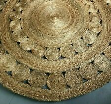 Round Braided Jute Rug 150 CM | Hemp Sisal Carpet | The Rug Collective AUS Stock