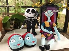 Lot Of 3 Disney The Nightmare Before Christmas Jack, Sally And Sally's Slippers